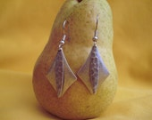 Diamond (shaped) silver earrings are a girl's best friend (Style #244S)
