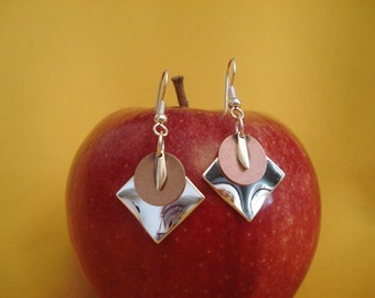 I love unusual silver and copper earrings (Style #248)
