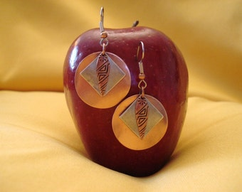 Dawn of a new day copper and silver earrings (Style #487)