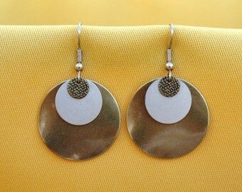 Bette Davis eyes gold and silver earrings (Style #354)