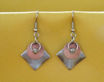 Stellar silver and copper earrings (Style #229C)