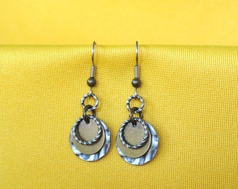 Undercover wild child silver and gold earrings (Style #230G)