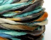 RESERVED - OCEAN DEEP - Single Ply Handspun Yarn 86yards