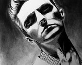 Portrait Giclee Print of Charcoal Drawing- Suspicion