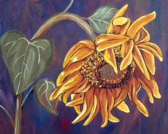Giclee Print - Wilted Sun Flower