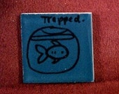 Trapped fish Tiny magnet