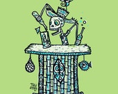 Tiki Dia De Los Tiki Bartender by Tiki tOny