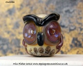 glass owl bead 58