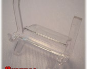Clear Miniature Acrylic Easel Display Agate Slabs CD Clocks Photos and Smart Phones=Free Shipping After 1st Item