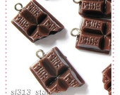 5pcs of Chocolate Bar Lucite Charms