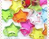 WHOLESALE 150pcs of Acrylic Star Charms, Mix Colors