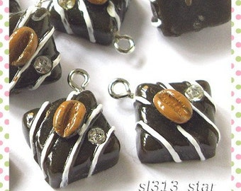 5pcs of Chocolate Truffle Lucite Charms