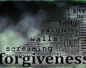 Forgiveness (B&W) - 12x8 Metallic Paper Matboard Print