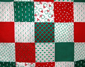 Christmas Patchwork Fabric Quilt 1 Yard