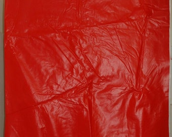 "Synthetic Leather Vinyl Upholstery Fabric 54"" x 72"" RED"