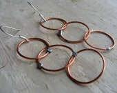 Orbitz Chain Earrings // Soldered Copper