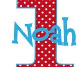 Birthday Number Polka Dot Birthday Tshirt or Onesie