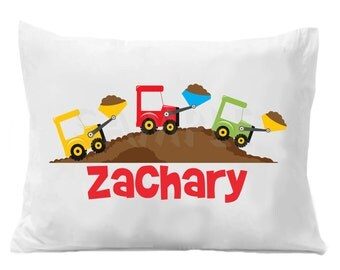 Bulldozer Digger Personalized Pillow Case