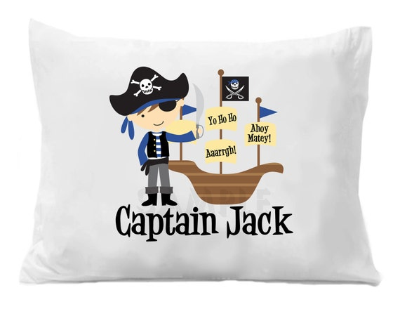 Pirate Pillow Case Personalized Boys or Girls