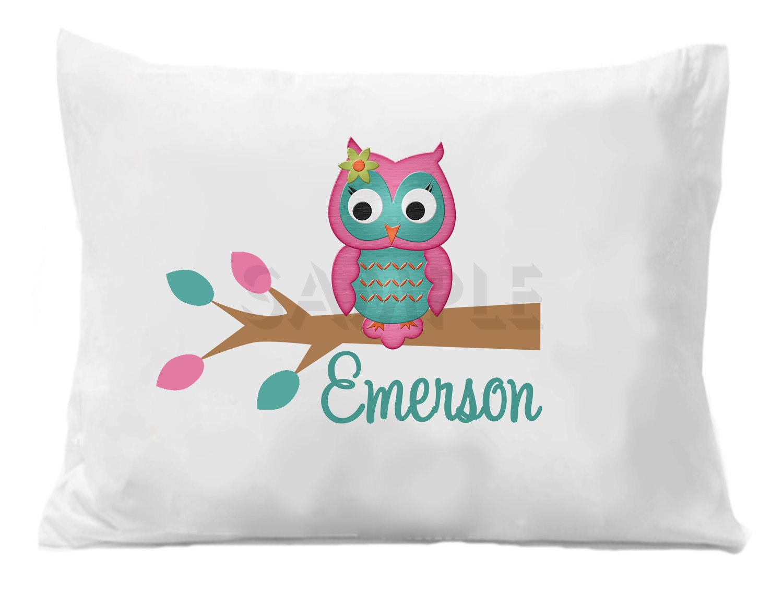 Cute Pillow Case Designs: Owl Pillowcase Personalized Owl Pillow Case,