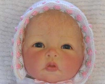 Crochet Tulip Baby Bonnet