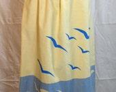 Vintage Sailor Inspired Yellow Skirt