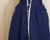 Vintage 1970's High-Waisted Skirt