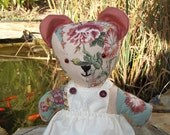 Teddy bear hand made Rosie bear collection dressed 15 inch