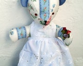 Teddy bear bride rosy bear collection 15inch blue and white