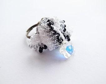 Crochet Lace Jewelry-Bow-Fiber Jewelry-Ring