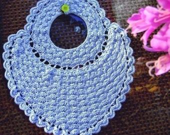 PDF Heart Shape Baby Bib Crochet Pattern E-pattern