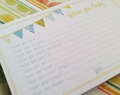 Wishes for Baby Boy Cards - Unique Baby Shower Activity Game or Memory Book Idea - Set of 35 - Blue and Yellow