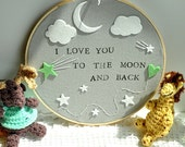 I Love You To The Moon And Back - Modern Baby Wall Decor