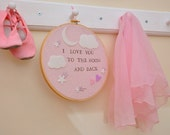 I Love You To The Moon And Back- Modern Baby Wall Art