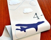 A Handmade Growth Chart - Diving Airplanes