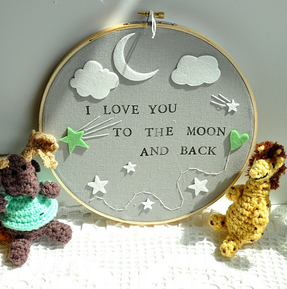 i love you to the moon and back modern baby wall decor. Black Bedroom Furniture Sets. Home Design Ideas