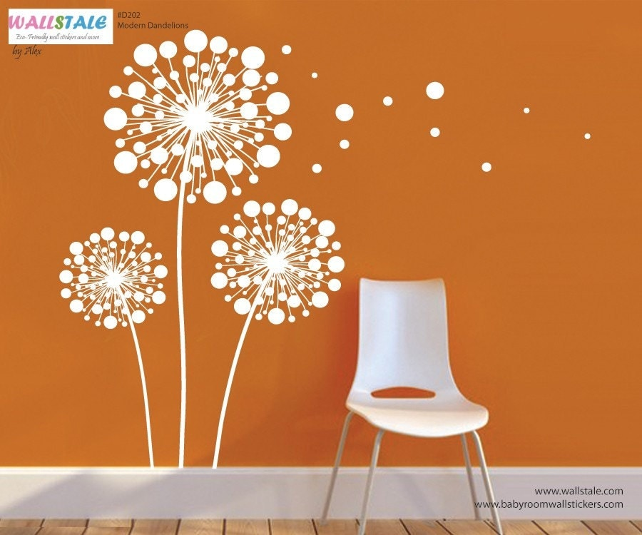 Dandelion Sticker Modern Dandelion Wall Decal