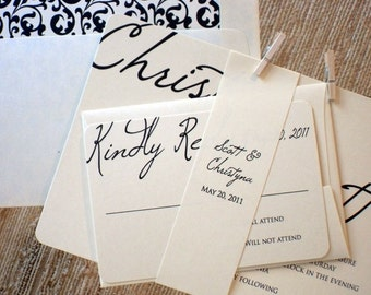 The Christyna Set - Modern Casual Wedding Invitation Sample