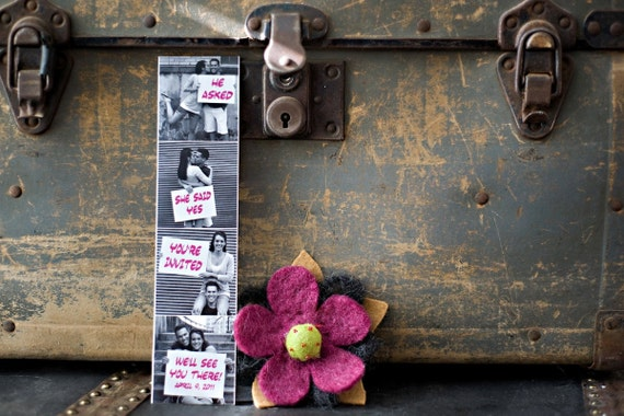Save The Date Photo Booth Film Strip Magnet