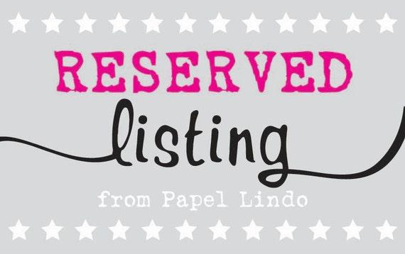 Reserved Listing for R. Arkin - Invitation Set of 135