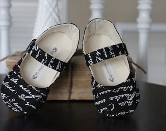 Baby Girl Shoes Toddler Girl Shoes Soft Sole Shoes Black Toddler Shoes Modern Shoes White Shoes Summer Shoes- Claribelle