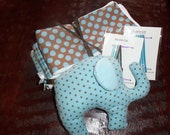 30 Gift Set  -  3 Burp Cloths, 2 Pacifier Clips, 1 Toy