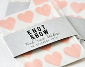 36 Pink Heart Stickers / Free Shipping - knotandbow