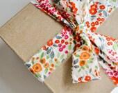 LAST CHANCE Floral Dot Fabric Ribbon