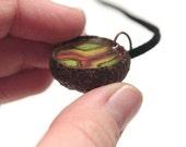 IN A NUTSHELL- Acorn Necklace: 70s Rainbow Split