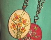 Sweetgrass Wildflowers- Hand Painted Necklace