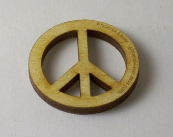 Package of 10 laser cut Peace Symbols