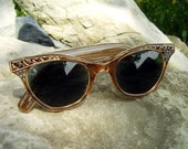 1960s Vintage FRENCH Cat Eye Sunglasses Rhinestones Pristine Condition