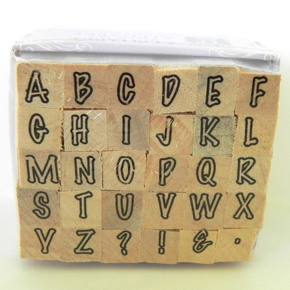 Alphabet  Rubber Stamp Set - Brand New in Package