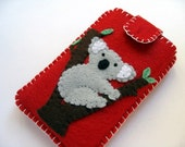 Felt iPhone/iPod Case - Koala (Red)